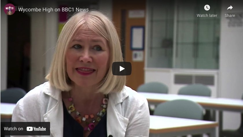 WATCH: Wycombe High and Mrs Cromie feature on BBCTV national news